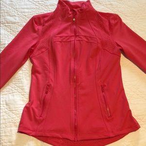 Jackets & Blazers - Pink laser cutout jacket, size small